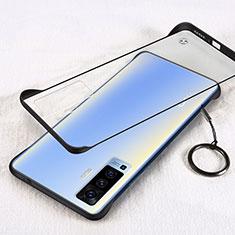 Carcasa Dura Cristal Plastico Funda Rigida Transparente H01 para Vivo X50 5G Negro