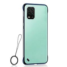 Carcasa Dura Cristal Plastico Funda Rigida Transparente H01 para Xiaomi Mi 10 Lite Azul