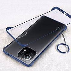 Carcasa Dura Cristal Plastico Funda Rigida Transparente H01 para Xiaomi Mi 11 5G Azul