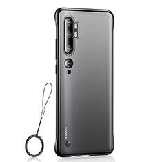 Carcasa Dura Cristal Plastico Funda Rigida Transparente H01 para Xiaomi Mi Note 10 Pro Negro