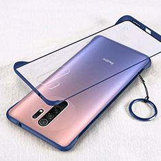Carcasa Dura Cristal Plastico Funda Rigida Transparente H01 para Xiaomi Redmi 9 Prime India Azul