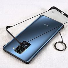Carcasa Dura Cristal Plastico Funda Rigida Transparente H01 para Xiaomi Redmi Note 9 Negro