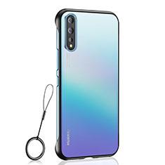 Carcasa Dura Cristal Plastico Funda Rigida Transparente H02 para Huawei Enjoy 10S Negro