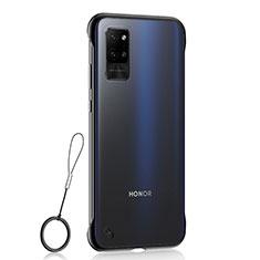 Carcasa Dura Cristal Plastico Funda Rigida Transparente H02 para Huawei Honor Play4 Pro 5G Negro