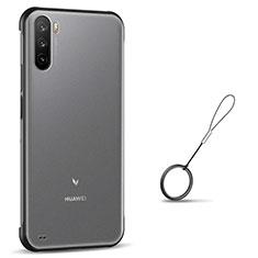 Carcasa Dura Cristal Plastico Funda Rigida Transparente H02 para Huawei Mate 40 Lite 5G Negro