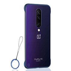 Carcasa Dura Cristal Plastico Funda Rigida Transparente H02 para OnePlus 8 Azul