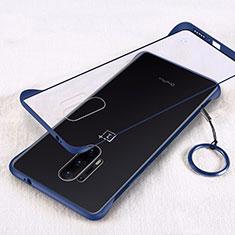 Carcasa Dura Cristal Plastico Funda Rigida Transparente H02 para OnePlus 8 Pro Azul