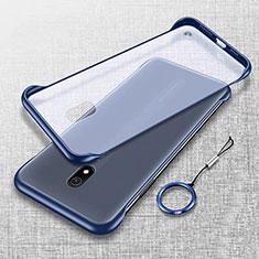 Carcasa Dura Cristal Plastico Funda Rigida Transparente H02 para Xiaomi Redmi 8A Azul