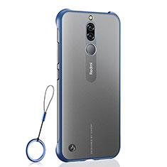 Carcasa Dura Cristal Plastico Funda Rigida Transparente H03 para Xiaomi Redmi 8 Azul