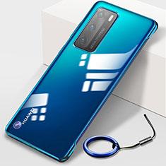 Carcasa Dura Cristal Plastico Funda Rigida Transparente N02 para Huawei P40 Azul