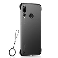 Carcasa Dura Cristal Plastico Funda Rigida Transparente S01 para Huawei Honor 20 Lite Negro