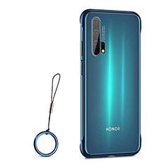 Carcasa Dura Cristal Plastico Funda Rigida Transparente S01 para Huawei Honor 20 Pro Azul