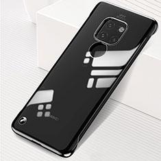 Carcasa Dura Cristal Plastico Funda Rigida Transparente S01 para Huawei Mate 20 Negro