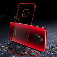 Carcasa Dura Cristal Plastico Funda Rigida Transparente S01 para Huawei Mate 20 Pro Rojo