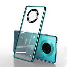 Carcasa Dura Cristal Plastico Funda Rigida Transparente S01 para Huawei Mate 30E Pro 5G Verde