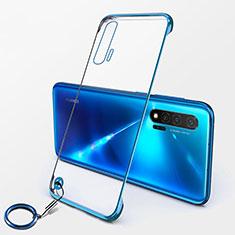 Carcasa Dura Cristal Plastico Funda Rigida Transparente S01 para Huawei Nova 6 5G Azul