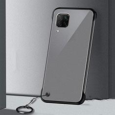 Carcasa Dura Cristal Plastico Funda Rigida Transparente S01 para Huawei Nova 7i Negro