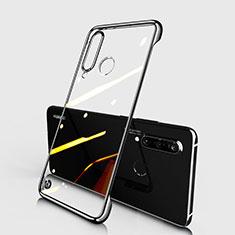 Carcasa Dura Cristal Plastico Funda Rigida Transparente S01 para Huawei P30 Lite Negro
