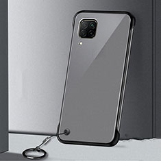 Carcasa Dura Cristal Plastico Funda Rigida Transparente S01 para Huawei P40 Lite Negro