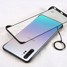 Carcasa Dura Cristal Plastico Funda Rigida Transparente S01 para Samsung Galaxy Note 10 Plus 5G Negro
