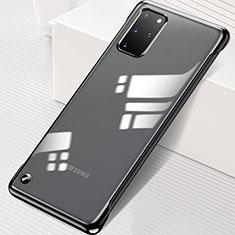 Carcasa Dura Cristal Plastico Funda Rigida Transparente S01 para Samsung Galaxy S20 Plus 5G Negro