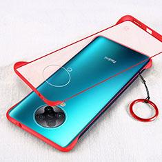 Carcasa Dura Cristal Plastico Funda Rigida Transparente S01 para Xiaomi Poco F2 Pro Rojo