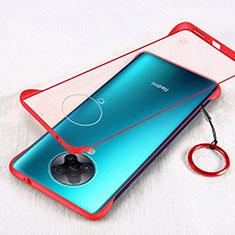 Carcasa Dura Cristal Plastico Funda Rigida Transparente S01 para Xiaomi Redmi K30 Pro Zoom Rojo