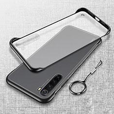 Carcasa Dura Cristal Plastico Funda Rigida Transparente S01 para Xiaomi Redmi Note 8 Negro