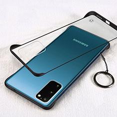 Carcasa Dura Cristal Plastico Funda Rigida Transparente S02 para Samsung Galaxy S20 5G Negro