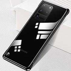 Carcasa Dura Cristal Plastico Funda Rigida Transparente S02 para Samsung Galaxy S20 Ultra 5G Negro