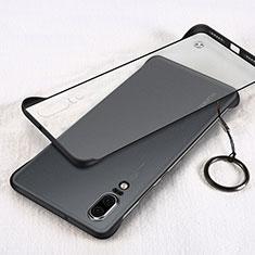 Carcasa Dura Cristal Plastico Funda Rigida Transparente S03 para Huawei P20 Negro
