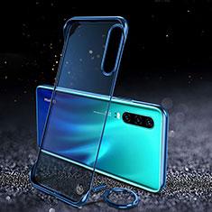 Carcasa Dura Cristal Plastico Funda Rigida Transparente S03 para Huawei P30 Azul