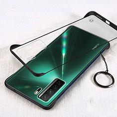 Carcasa Dura Cristal Plastico Funda Rigida Transparente S03 para Huawei P40 Lite 5G Negro