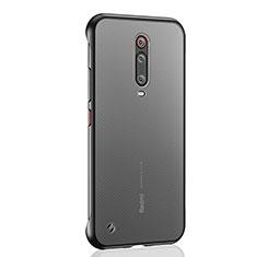 Carcasa Dura Cristal Plastico Funda Rigida Transparente S03 para Xiaomi Mi 9T Pro Negro