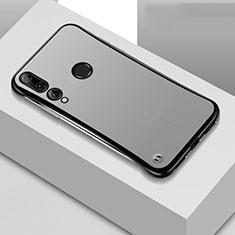 Carcasa Dura Cristal Plastico Funda Rigida Transparente S04 para Huawei Honor 20 Lite Negro