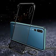 Carcasa Dura Cristal Plastico Funda Rigida Transparente S04 para Huawei P20 Pro Negro