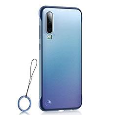 Carcasa Dura Cristal Plastico Funda Rigida Transparente S04 para Huawei P30 Azul