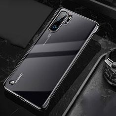 Carcasa Dura Cristal Plastico Funda Rigida Transparente S04 para Huawei P30 Pro Negro