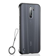 Carcasa Dura Cristal Plastico Funda Rigida Transparente S04 para Xiaomi Redmi Note 8 Pro Negro