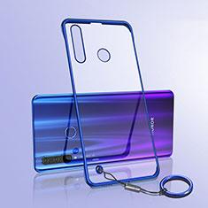 Carcasa Dura Cristal Plastico Funda Rigida Transparente S05 para Huawei Honor 20 Lite Azul