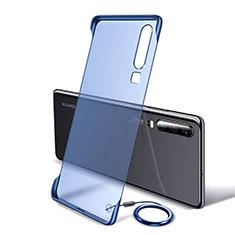 Carcasa Dura Cristal Plastico Funda Rigida Transparente S05 para Huawei P30 Azul