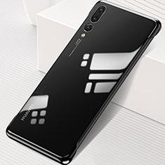 Carcasa Dura Cristal Plastico Funda Rigida Transparente S06 para Huawei P20 Pro Negro