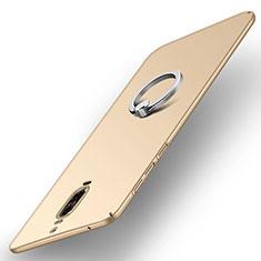 Carcasa Dura Plastico Rigida Mate con Anillo de dedo Soporte A02 para Huawei Mate 9 Pro Oro