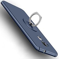 Carcasa Dura Plastico Rigida Mate con Anillo de dedo Soporte para Huawei GR5 Mini Azul
