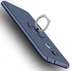 Carcasa Dura Plastico Rigida Mate con Anillo de dedo Soporte para Huawei Honor 5C Azul