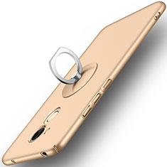 Carcasa Dura Plastico Rigida Mate con Anillo de dedo Soporte para Huawei Honor V9 Play Oro
