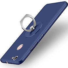 Carcasa Dura Plastico Rigida Mate con Anillo de dedo Soporte para Huawei Nova Azul