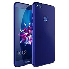 Carcasa Dura Plastico Rigida Mate con Anillo de dedo Soporte para Huawei P8 Lite (2017) Azul
