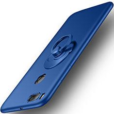 Carcasa Dura Plastico Rigida Mate con Anillo de dedo Soporte para Xiaomi Mi A1 Azul