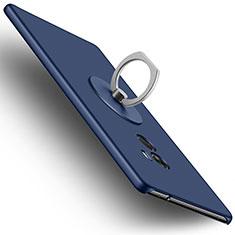 Carcasa Dura Plastico Rigida Mate con Anillo de dedo Soporte para Xiaomi Mi Mix Azul